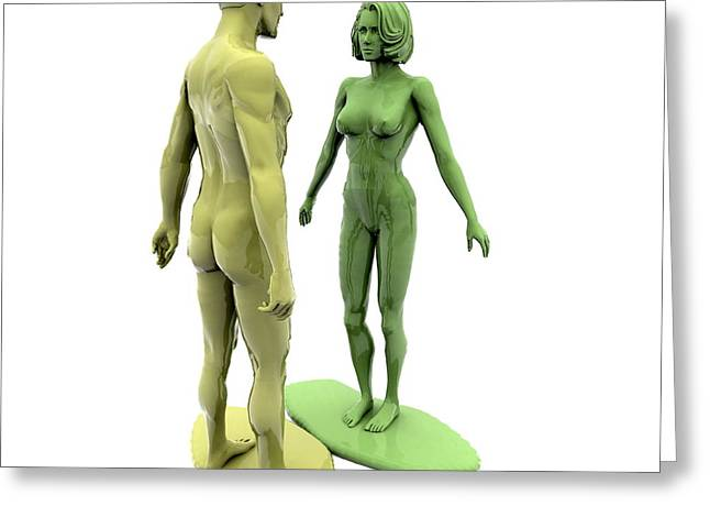 Plastic Models Greeting Cards - Model Relationship Greeting Card by Christian Darkin