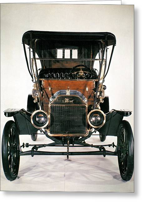 American Automobiles Greeting Cards - Model T Ford, 1910 Greeting Card by Granger