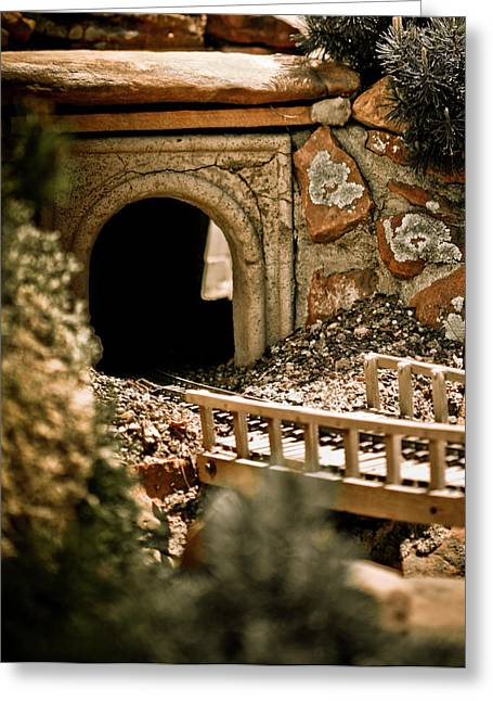 Model Trains Greeting Cards - Model Train Tunnel 2 Greeting Card by Marilyn Hunt