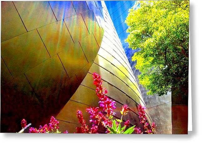 Modern Architecture Greeting Card by Rom Galicia