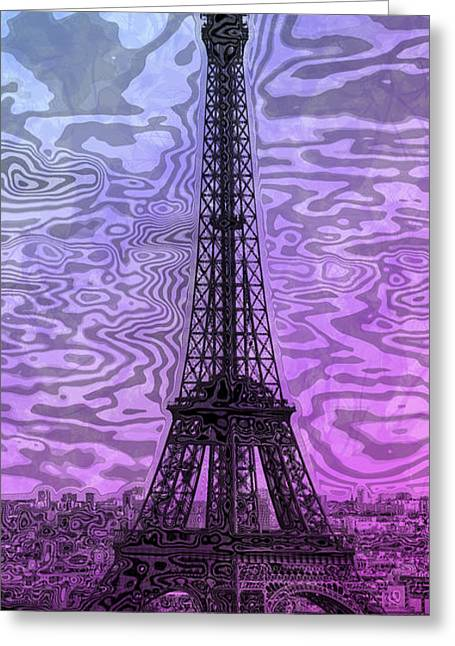 Colorspot Greeting Cards - Modern-Art EIFFEL TOWER 14 Greeting Card by Melanie Viola
