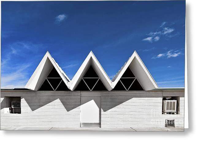 Metaphysics Greeting Cards - Modern Building Roofing Greeting Card by Eddy Joaquim