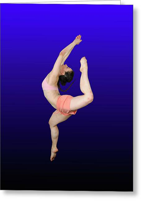 Knockout Greeting Cards - Modern Dancer  Greeting Card by Ilan Rosen