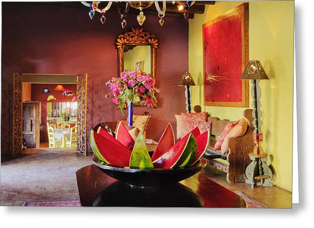 Modern Dining Area Greeting Card by Jeremy Woodhouse