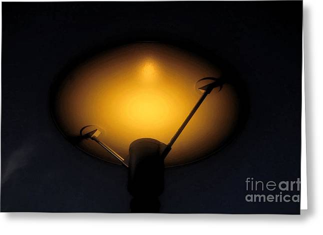 Night Lamp Digital Art Greeting Cards - Modern lamp Greeting Card by David Lee Thompson
