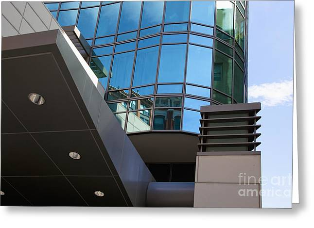 Modern Photographs Greeting Cards - Modern Office Building Greeting Card by Inti St. Clair