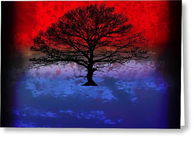 Modern Paintings Abstract TREE Wall Art Greeting Card by Robert R Splashy Art