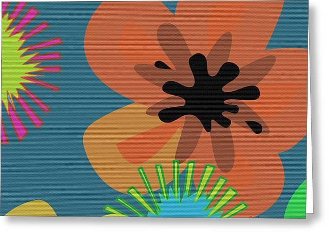 Over Sized Greeting Cards - Modern Pop Floral II Greeting Card by Ruth Palmer