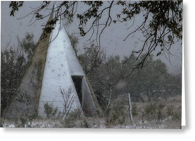 Modern Tepee Greeting Card by Fred Lassmann