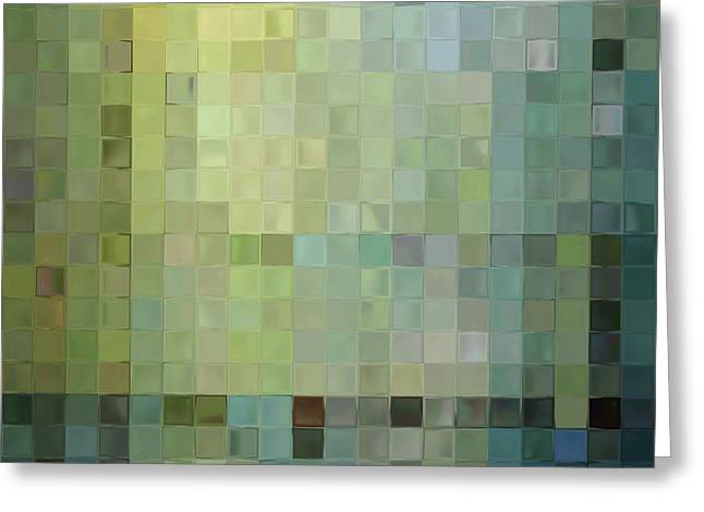 Serie Greeting Cards - Modern Tile Art One Modern Decor Collection Greeting Card by Mark Lawrence