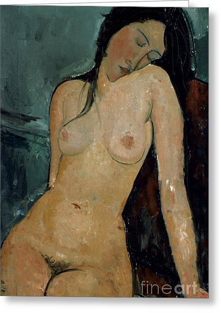 Modigliani Photographs Greeting Cards - MODIGLIANI: NUDE, c1917 Greeting Card by Granger