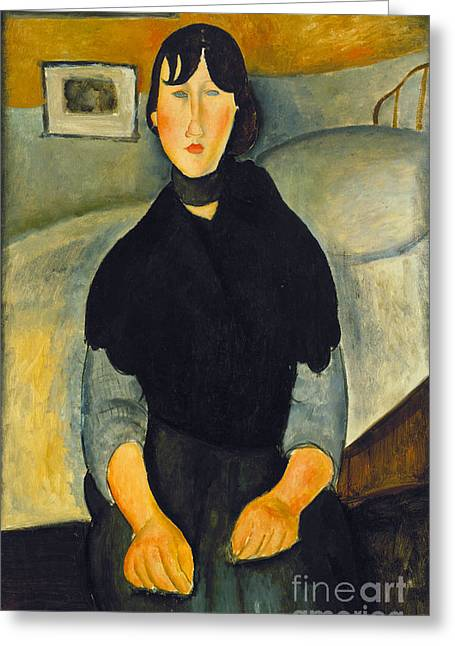 Modigliani Photographs Greeting Cards - Modigliani: Woman, 1918 Greeting Card by Granger