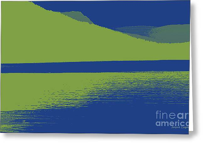 Avocado Green Greeting Cards - Modscape British Columbia Canada Greeting Card by Jayne Logan Intveld