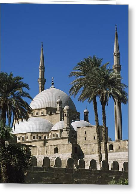 Mohammed Ali Greeting Cards - Mohammed Ali Mosque In Citadel Of Cairo Greeting Card by Axiom Photographic