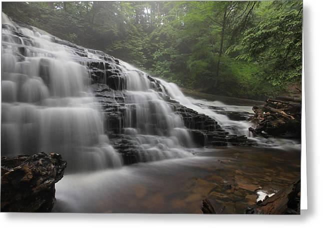 Mohawk Park Greeting Cards - Mohawk Falls Greeting Card by Lori Deiter