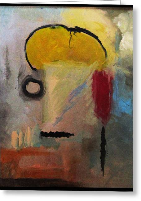 Abstract Expression Greeting Cards - Mohawk Man Greeting Card by Snake Jagger
