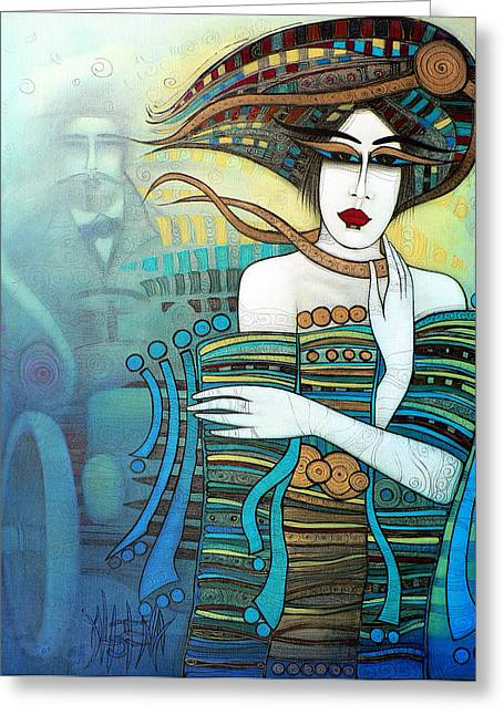 Separation Paintings Greeting Cards - Moi Non Plus Greeting Card by Albena Vatcheva