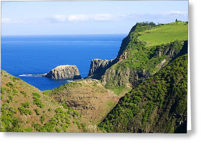Lahaina Greeting Cards - Mokeehia Islet Greeting Card by Ron Dahlquist - Printscapes
