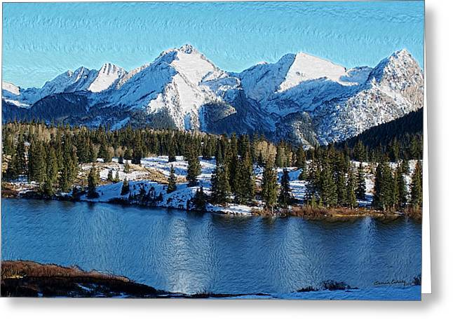 Mola Greeting Cards - Molas Lake Electric Peak and the Grenadier Range Greeting Card by Ernie Echols