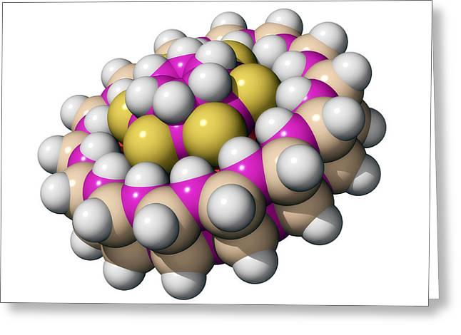 Molecular Bearing, Computer Model Greeting Card by Laguna Design