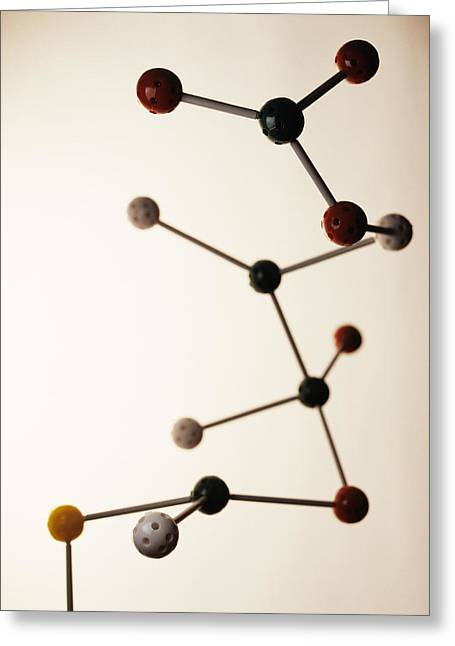 Molecular Models Greeting Cards - Molecular Model Greeting Card by Lawrence Lawry