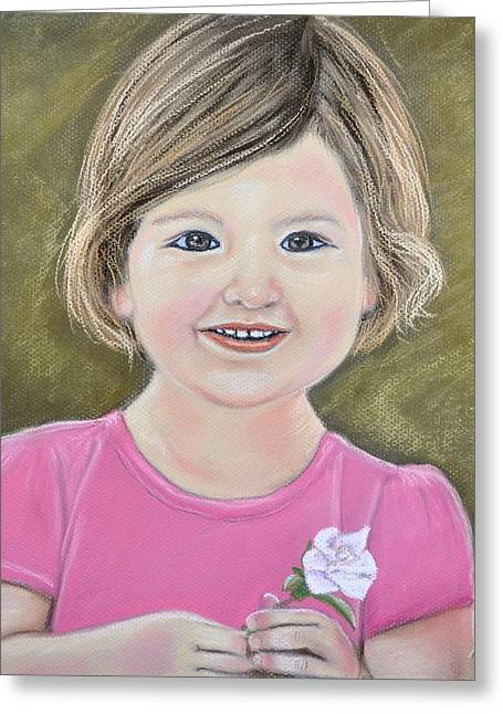 Youth Pastels Greeting Cards - Molly Greeting Card by Jan Amiss