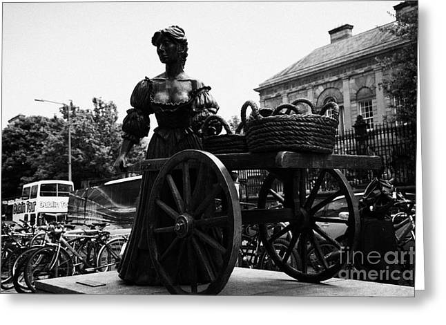 Molly Greeting Cards - Molly Malone Statue In Dublin City Centre Ireland Greeting Card by Joe Fox