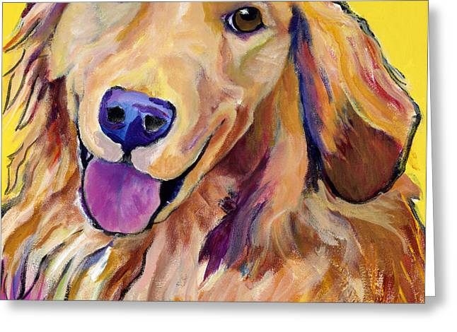Molly Greeting Card by Pat Saunders-White