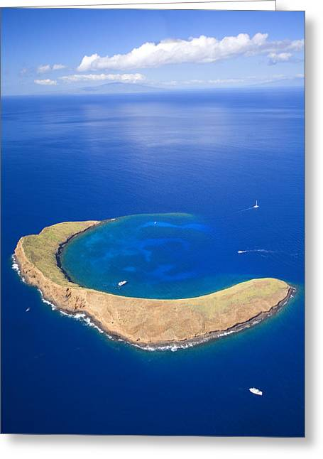 Reef Photos Greeting Cards - Molokini Crater Greeting Card by Ron Dahlquist - Printscapes