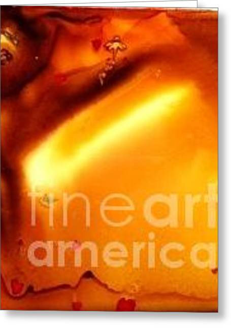 Angel Mermaids Ocean Greeting Cards - Molten Gold Greeting Card by Joyce Auteri
