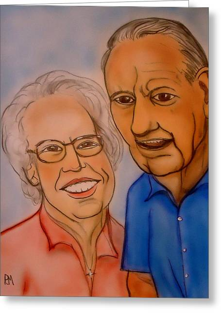 Mom And Dad Greeting Card by Pete Maier