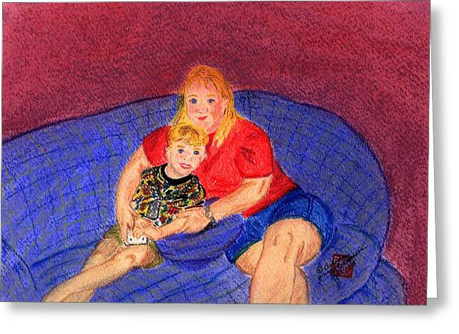 People Pastels Greeting Cards - Mom and Me Greeting Card by Arlene  Wright-Correll