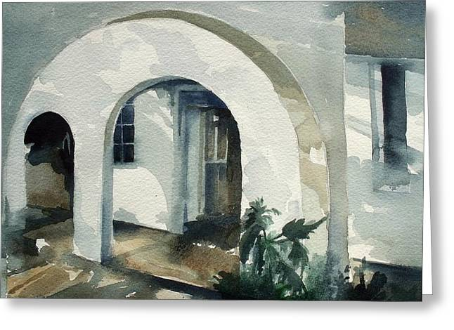 Mombasa Archway Greeting Card by Stephanie Aarons