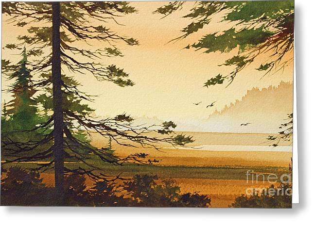 Framed Landscape Print Greeting Cards - Moment in Time Greeting Card by James Williamson