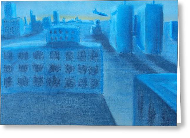 Art Of Building Pastels Greeting Cards - 9/11 Moment before Impact Greeting Card by Casey P