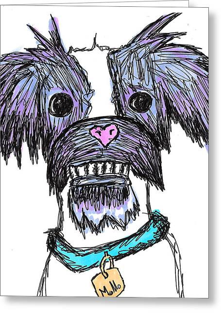 Doggy Drawings Greeting Cards - Momo  Greeting Card by Jera Sky
