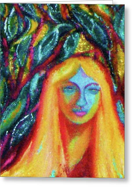 Gay Art Framed Giclee On Canvas Greeting Cards - MONA - LISA - Art Deco Greeting Card by Gunter  Hortz