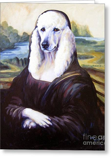 Old Masters Greeting Cards - Mona Leasha Greeting Card by Pat Burns