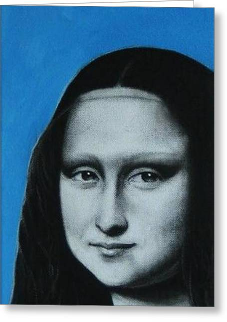 Renaissance Pastels Greeting Cards - Mona Lisa Greeting Card by Anastasis  Anastasi