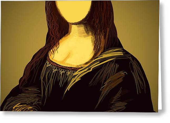 Mona Lisa Greeting Card by Setsiri Silapasuwanchai