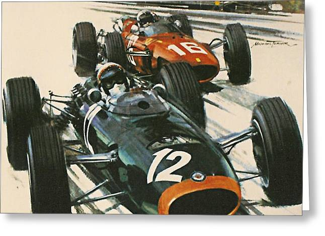 Monaco Grand Prix 1967 Greeting Card by Nomad Art And  Design
