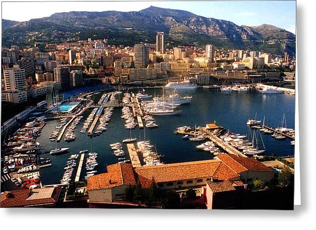 Posh Greeting Cards - Monaco harbor Greeting Card by Emanuel Tanjala