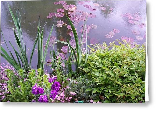 Monet Garden Giverny France Greeting Card by Chitra Ramanathan