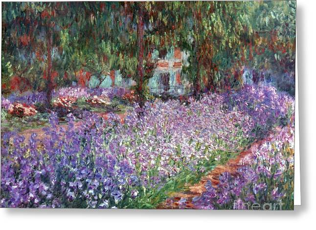 Flower Gardens Photographs Greeting Cards - Monet: Giverny, 1900 Greeting Card by Granger