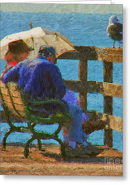 Impressionist Style Greeting Cards - Monet Moment Greeting Card by Tom Griffithe