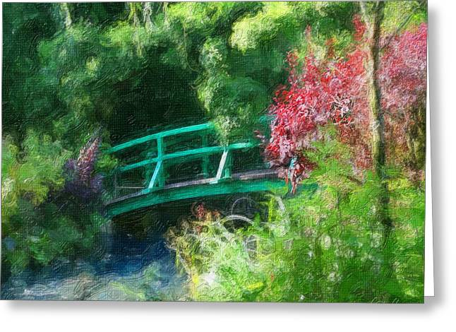 Diana Haronis Greeting Cards - Monets Garden Greeting Card by Diana Haronis