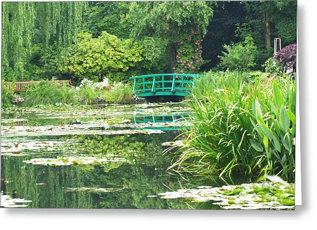 Krista Greeting Cards - Monets Lily Pond Greeting Card by Krista Kulas