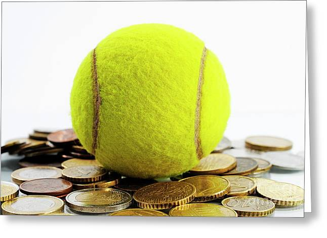 Coins Greeting Cards - Money and Sports Greeting Card by Sami Sarkis