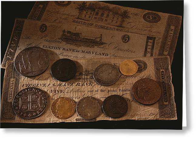 Paper Money Greeting Cards - Money Used In The United States Greeting Card by Kenneth Garrett