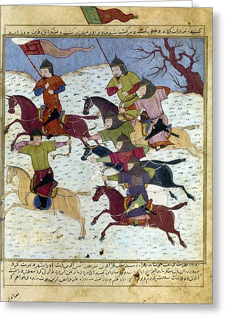 1400 Greeting Cards - MONGOL BATTLE, c1400 Greeting Card by Granger